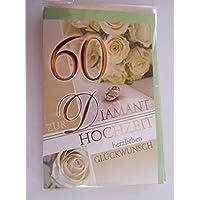 Glückwunschkarte Diamantene Hochzeit