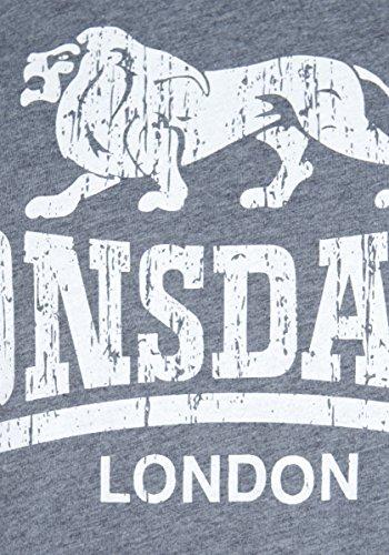 Lonsdale London Herren Oberteile/T-Shirt Coldstream Grau