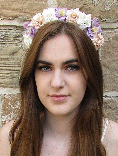 Ivoire Rose Lilas Fleur cheveux bandeau couronne argent petite rose/festival/style bohème U65 * * * * * * * * exclusivement vendu par – Beauté * * * * * * * *
