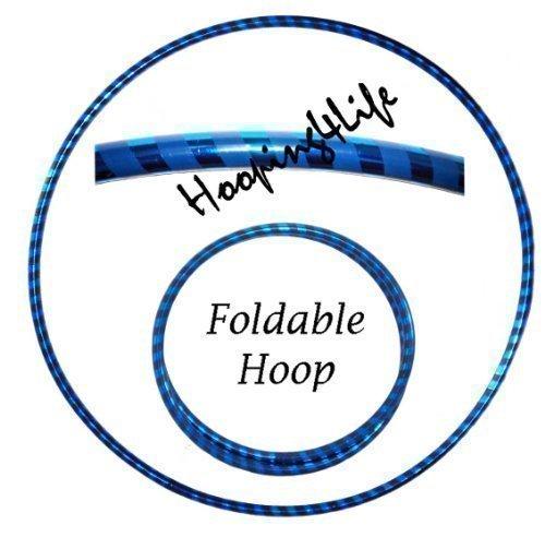 hooping4life-travel-40-102cm-foldable-dance-exercise-fitness-hula-hoola-hoop-hoops-metalic-blue-pvc-