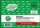 Sigel SD120 Quittungsblock für Kleinunternehmer A6 quer, 2x30 Blatt, selbstdurchschreibend