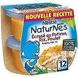 Nestlé naturnes potiron poulet 2 x 200g 12 mois - ( Prix Unitaire ) - Envoi Rapide Et Soignée