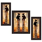 #9: Wens Ladies MDF Wall Art (30 cm x 34 cm x 1.5 cm , Set of 3)
