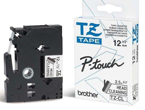 Reinigungskassette TZCL6, 36 mm für Brother P-touch Beschriftungsgerät, Cleaning Tape, TZ-CL6 Band für die Reinigung vom Druckkopf