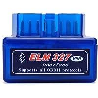 Moonar Mini ELM327 Interfaz V2.1 Bluetooth OBD-II OBD2 Auto Coche Herramienta de análisis de diagnóstico