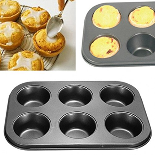 SYGA Muffin Cup Cake Tray For 6 Muffins Bakeware