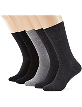 ESPRIT Herren Strick Socken Uni-Mix, 5er Pack