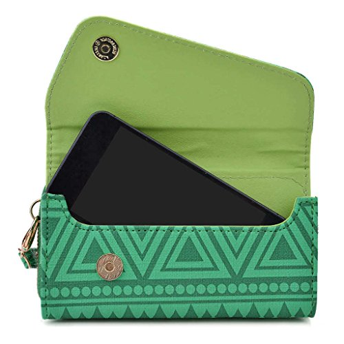 Kroo Tribal Urban Style Phone Case Wall Let Embrayage pour Apple iPhone 5 C bleu roi vert
