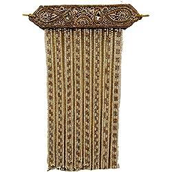J.tushar Men's Brasso Groom Heavy Stone Sehra (karsehra_2999 _Golden_ Free Size)