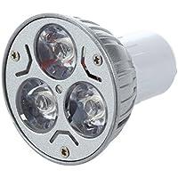 TOOGOO(R)GU10 Bombila de lampara 3 LED Blanco calido 3W 5W 12V