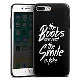 DeinDesign Apple iPhone 7 Plus Slim Case schwarz Silikon Hülle Schutzhülle Smile Fake Phrases