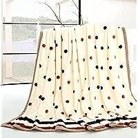HHYWS Morbido e caldo buttare letto divano buttare coperta fronte-retro, spesso a nudo il matrimonio Dot,1,5*2,0m