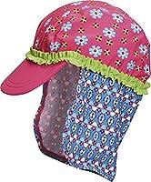Playshoes Girl's UV Sun Protection Swim Sun Hat Flowers Cap, Pink (Original), Medium (Manufacturer Size:51cm)