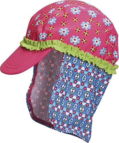 Playshoes Mädchen Mütze Badekappe, Bademütze Blumen, UV-Schutz nach Standard 801 und Oeko-Tex Standard 100, Gr. Large (Herstellergröße: 53cm), Mehrfarbig (original 900)