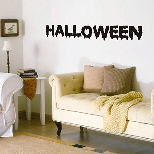 LETAMG Wandsticker Halloween Wandaufkleber Geschnitzte PVC Wohnkultur Für Hintergrund Dekorative Alphabet Spaß Aufkleber Poster Aufkleber Papier