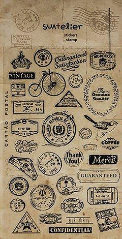 Stickers Macarons - 1feuille avec 34petits autocollants patch macaron brodeur,