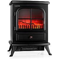 Klarstein St. Moritz • cheminée électrique • Foyer • Ventilateur Chauffant • Chauffage • Fonctions indépendantes • 1850 W • Thermostat réglable • sans feu ni fumée • Bois décoratif • Noir