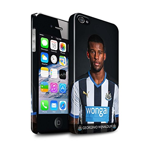 Offiziell Newcastle United FC Hülle / Glanz Snap-On Case für Apple iPhone 4/4S / Pack 25pcs Muster / NUFC Fussballspieler 15/16 Kollektion Wijnaldum