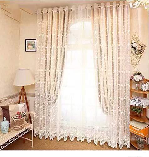IQDQ Vorhang Bestickt Milch Bildschirm Bildschirm Garn Rosa Hochwertige Bestickte Gaze Schlafzimmer Vorhang Vorhang Fertig -