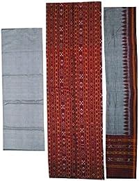 OdiKala Women's Sambalpuri Cotton Unstitched Dress Material(SCDR40067_Multicolour_Free Size)
