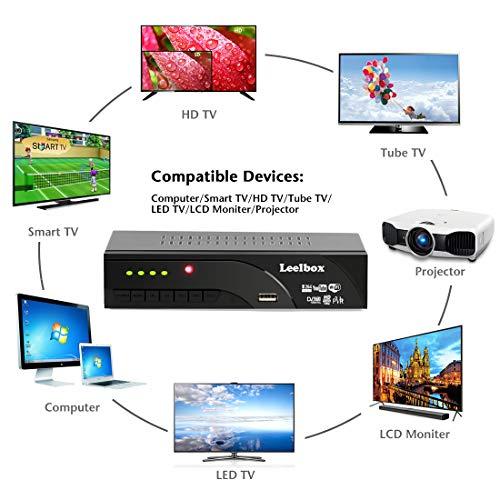 514CnepD8%2BL - Decodificador TDT Terrestre - Leelbox Digital TV HD Euroconector Sintonizador Receptor DVB T2 Tuner Full HD / HD Ready / 1080P / H.264 / MPEG / Dolby / Multimedia (DVB T2, PVR, SCART)