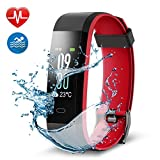 Navtour Fitness Armband Fitness Tracker, Buntes Bildschirm Fitness Tracker,Aktivitätstracker mit Pulsmesser,IP68 Wasserdichtes Schrittzähler mit Alarm / Kalorien / Schlafüberwachung, für Android und iOS