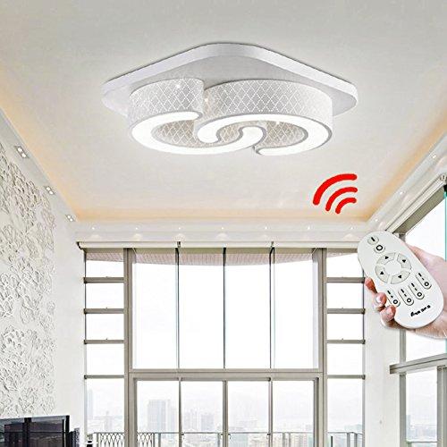 VINGO® 24w LED Dimmbar Deckenlampe Geschäft Wand-Deckenleuchte 425*425*100MM Lampe 50.000 Std