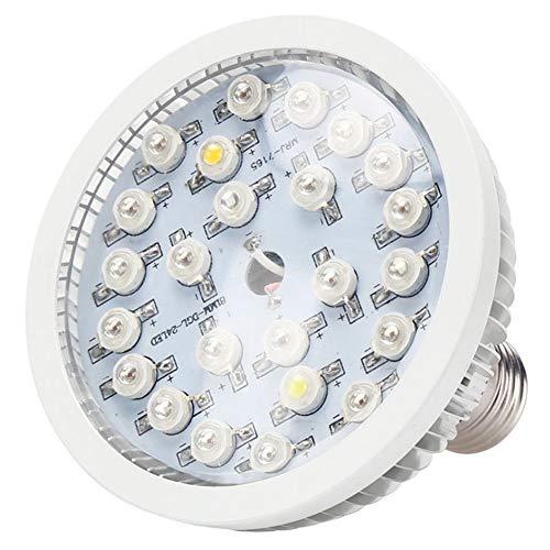 Nanana lampada per piante led coltivazione lampadina, e27 24w 24 led a spettro completo coltiva la luce per la serra hydroponics organic, luci per acquario, idroponica acquatica