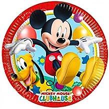 Perona - Pack de 8 platos 20 cm, Mickey Mouse ( 50861)