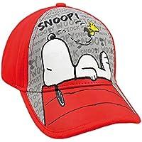 Snoopy 2200000274 - Gorra Premium para niños, color rojo, talla única