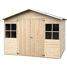 Decor et jardin - Abri de jardin bois Lopun 12 mm - 4,96 m²