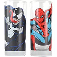 Marvel Comics Spiderman Venom Bere Merchandise Occhiali Set Duo da collezione