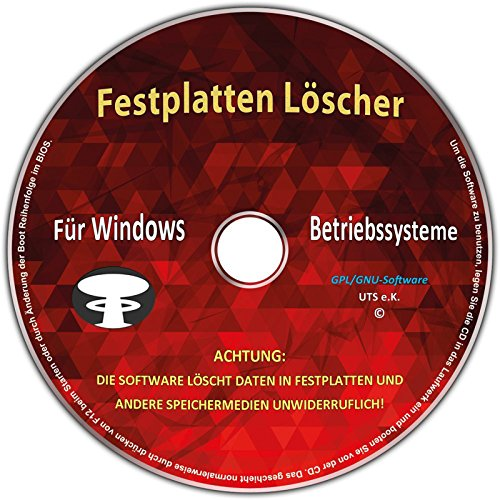 Festplatten Löscher & Formatiere, Datenvernichter, Sichere - Löschen Festplatte