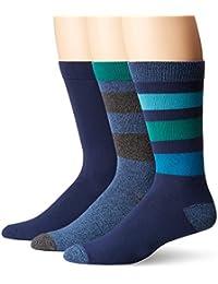 K. Bell Socks Men's 3 Pack Stripes Crew