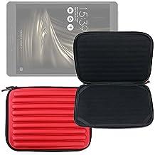 DURAGADGET Funda Roja Con Espuma De Memoria Para Tablet Asus ZenPad 3s 10 / Konrow K-Tab 1000+ / 1001+ / 701+ / 702+