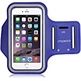 MoKo Sports Armband for iPhone 6s Plus / iPhone 6 Plus, Samsung Galaxy Note 5 / S6 edge+, Droid Turbo and LG G4 / G3, Card Slot, Sweat-proof, BLUE (Size L, Compatible with Cellphones up to 5.7 Inch)
