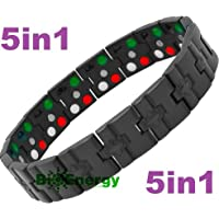 Titanium Magnetic Energy Germanium Armband Power Bracelet Health Bio 5in1 Bio 259