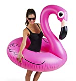Vpsan Riesiges Aufblasbares Flamingo Schwimmbad,Novelty Outdoor Lounger and Cute Toy for the Swimming Pool or Beach,90cm