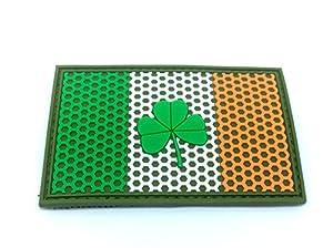 Drapeau de Crête de Maille Irlande Irlandais Trèfle Airsoft Paintball PVC Moral Patch