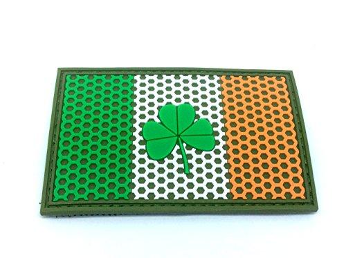 Irisches Irlands Kleeblatt Mesh Gitter Wappen Flagge Airsoft Klettverschluss PVC Mannschaft Patch (Irland Wappen)