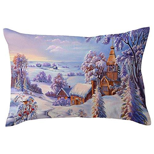 rohe Weihnachten Leinen Kissenbezüge Sofa Rechteck Kissenbezug Dekoration 11,8