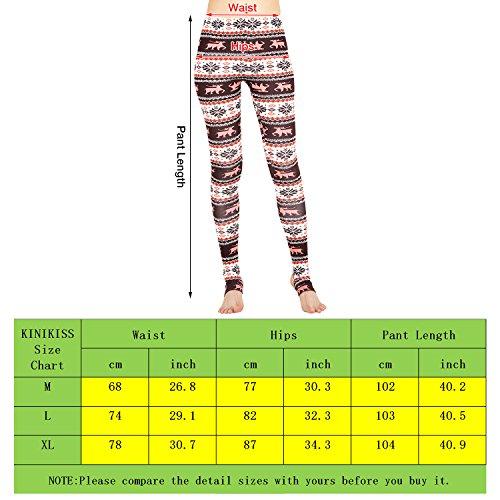 Kinikiss Legging Yoga Taille Haute Collant de Sport Femme Caleçon Fitness Imprimé Tribal Aztec Café
