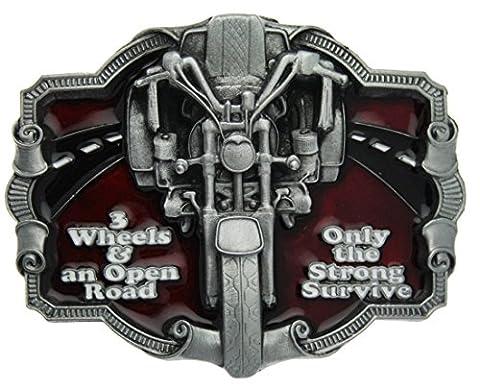 Boucle de ceinture Trike, 3 Wheels & an Open Road en un de mes présentation en coffrets.