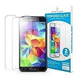 Samsung Galaxy S5 Schutzfolie (2 Folien) 9H Panzerglas/Panzerglasfolie, Displayschutzfolie aus Japanischen HD Tempered Glass Hartglas, Panzerglas, Glasfolie, Handy Schutzfolie, Schutzglas, Panzerfolie
