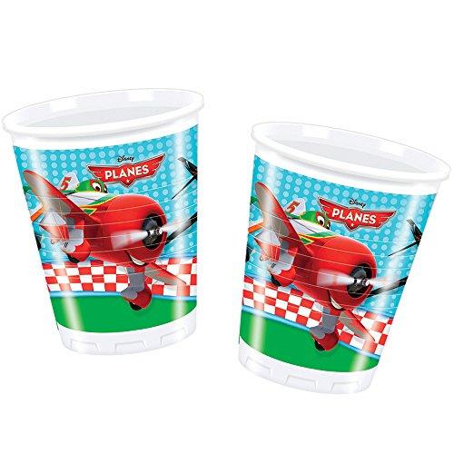 Party-Becher * PLANES * für einen Kindergeburtstag mit DISNEY-Motto aus Kunststoff ()