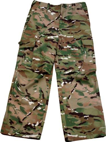 Preisvergleich Produktbild Highlander Boys Camouflage Polycotton Combat Cargo Trousers