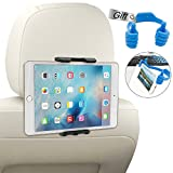 Universale Tablet Halterung,Kany Auto Rücksitz KFZ-Kopfstützen Halterung für iPad 2/3/4/Mini/Air, Samsung Galaxy Tab und Die Meisten Tablet 6-11 Zoll mit 360 Grad-Rotation