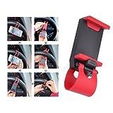 Handy Halterung Auto Lenkrad universal in schwarz rot