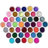 Bluelans 45 Farbe Nagel Farbgel Mischung Glitzer UV Aufbau Gel Kunst Nail Art Glittergel