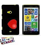 Cover rigida ultra sottile Nokia Lumia 625al motivo esclusivo [Poker] [nera] di MUZZANO + Pennino e Panno Muzzano offerti–La protezione antigraffio Ultime, protezione anti-urto elegante e duratura per il vostro Nokia Lumia 625